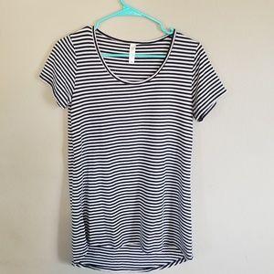 Lularoe Navy striped shirt